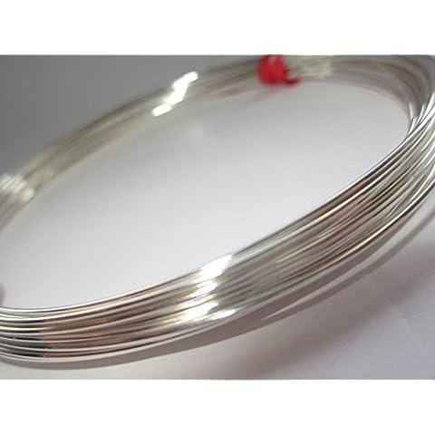 Argento Sterling 925a filo rotondo 1mm (calibro 18), Soft, 1metro