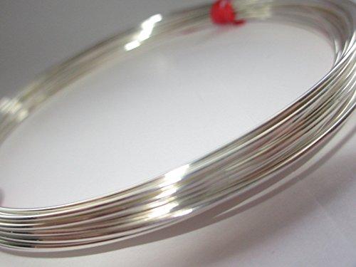 Sterling-Silber 925, rund, 0,5 mm, 24 Gauge, weiches - 1 Meter (24 Gauge Draht)