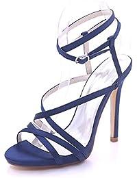 Longra Donne Open Toe Pure sandali della spiaggia di colore (EU Size:35, Rosa)