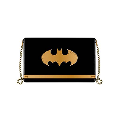 batman-monedero-logo-de-senora-19x117x25cm-con-cadena-negro-dorado