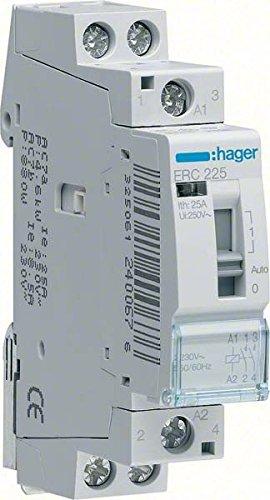 HAGER ERD418 - RELE MANDO 16A 2NA+2NC 24V
