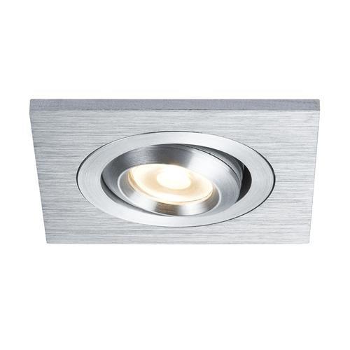 Paulmann 92524 Premium Einbauleuchte/Einbaulampe Set Drilled LED eckig schw.3x3W 700mA 60x60mm Geb./Alu Deckenstrahler, Aluminium, Integriert, Silber, 20 x 20 x 30 cm