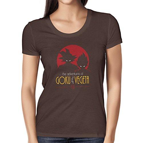 NERDO - The Adventures of Goku and Vegeta - Damen T-Shirt Braun