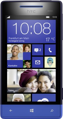 HTC Windows Phone 8S Smartphone (Qualcomm 1 GHz S4 Prozessor, 10,2 cm (4 Zoll) Touchscreen, 5 Megapixel Kamera, 512 MB RAM) Atlantic blau (Htc Windows Phone)