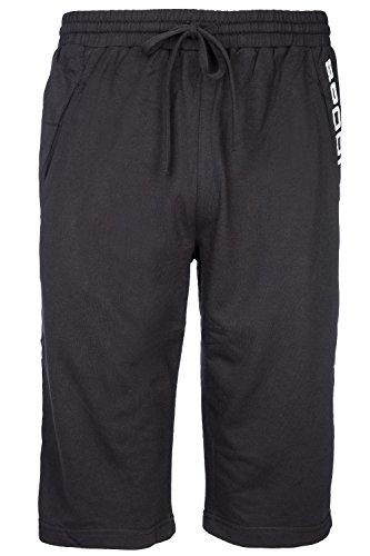 GIBRA® Herren Sweatshorts Kurze Hose für Männer, Sporthose, Freizeithose mit Gummibund und Taschen, schwarz, Gr. M-XXXL Schwarz