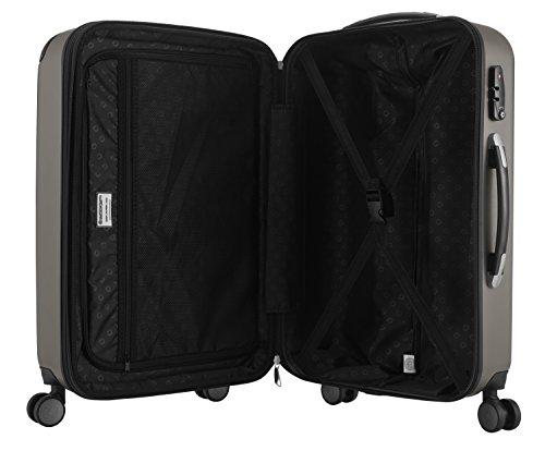 Hauptstadtkoffer - Spree - Handgepäck Hartschalen-Koffer Trolley Rollkoffer Reisekoffer Erweiterbar, TSA, 4 Rollen, 55 cm, 42 Liter, Graphit - 7