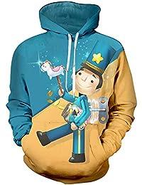 Oraycm Unisex Anime Cosplay Sudadera con Capucha Impresa En 3D Camiseta De Manga Largas Suéter Zipper