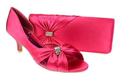 chic-feet-womens-hot-pink-wedding-party-prom-evening-low-heel-shoes-matching-bag-uk-5