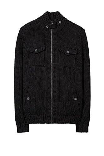 Esprit 017ee2i018, Gilet Homme Noir (BLACK 001)