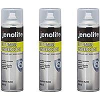 JENOLITE 3 x Peinture aérosol Bitume pour Dessous, Peinture Anti-Corrosion - Noir - Scellant pour Dessous de Voiture, réparation de gouttière, scellant pour Toit - 500ml