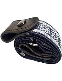 8c8c0e8a75 Cintura da Uomo Donna Cintura Senza Fibbia Regolabile Invisibile Pantaloni  Jeans Cintura Elastica