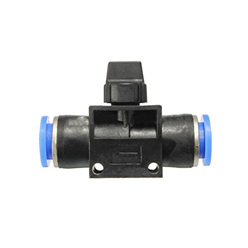6mm-12mm Pneumatische Steckverbinder Verbindungsstücke Kugelhahn Anschluss Push In Beschlag Luft / Wasserschlauch Rohr - 6mm