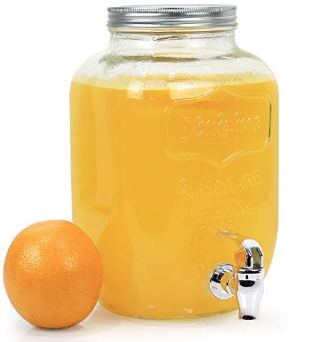 Estilo 1Liter Single Glas Getränke Drink Dispenser mit Leck gratis Spigot, klar - Glas Dispenser Spigot