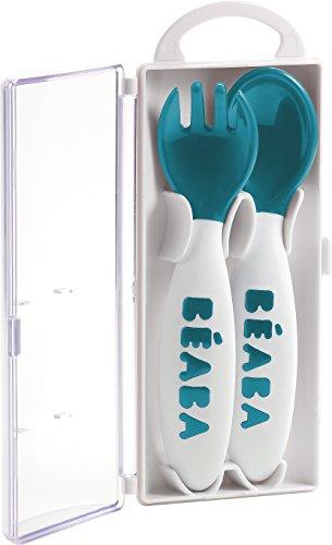 Béaba 913398 - Cuchara y tenedor ergonómicos