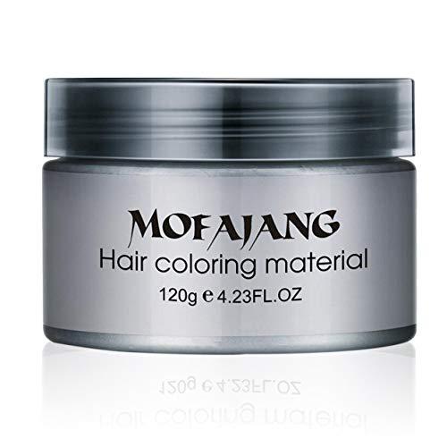 Salon Estilismo Pomada de plata ceniza gris abuela Ceras temporal del cabello desechables tinte de pelo...