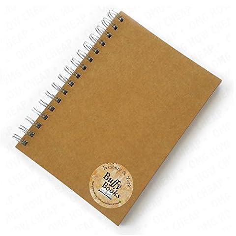 Hanbury & York–Buffy livres–Carnet ligné A5Livre Manuscrit–Papier 100% recyclé et planche–Fabriqué en Angleterre