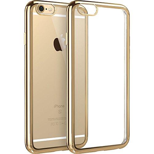 iPhone 6 / 6S Hülle (4,7 Zoll), ESR® Twinkler Series [0.8mm Ultra Dünne] Weiche Silikon Schutzhülle TPU Transparent Zurück mit Überzug Farbig Rahmen Hülle für iPhone 6/6S (Champagner Gold)