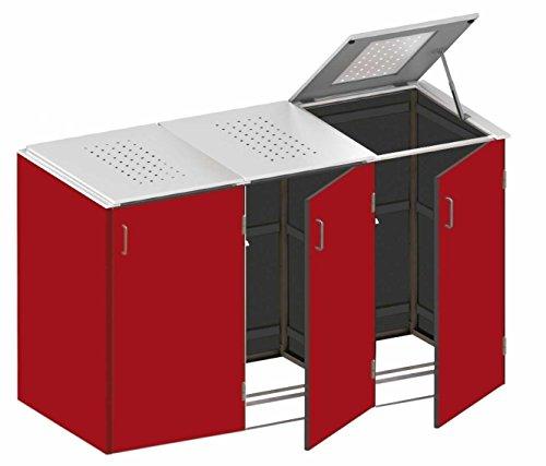 Mülltonnenbox schiefer System