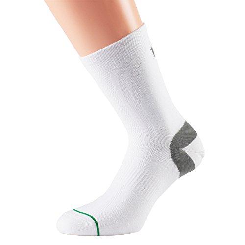 1000 Mile Herren Lauf Socken 1177 Tactel Socks, Weiß, XL, 1177WX