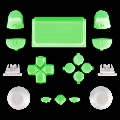 PS4 Controller Mod Kit für JDM-030 Modell - Leuchtend im Dunkeln