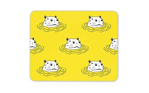 African Spa (Lustige Yellow Hippo Mauspad Pad - Hippopotamus African Spaß-Geschenk-Computer # 14226)