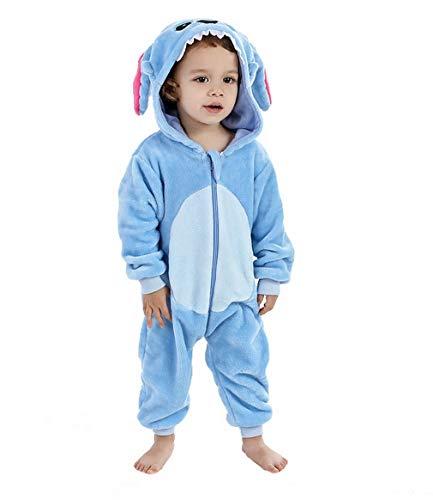 Fancyland Kinder Jumpsuits Kostüm Tier Overall-Onesie Pyjama Schlafanzug-Kapuzenpullover Nachtwäsche Onesie Nachthemd (Stiche Kind Kostüm)