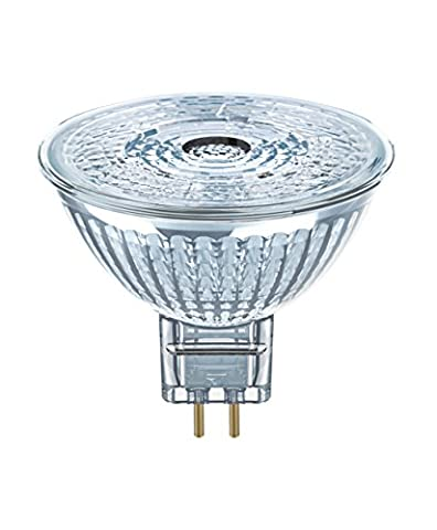 OSRAM LED STAR MR16 12 V / LED reflector lamp, MR16, for low voltage operation, with pin base: GU5.3, 4.60 W, 12 V, 35 W replacement, Beam angle: 36 °, Cool White, 4000 K, 1pack