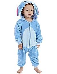Stitch Pyjama Ensemble de Pyjama Dors Enfant Bébé Combinaison Hiver Forme  Animal Déguisement 0363e9ab2d3