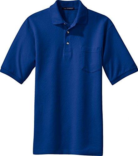 Port Authority Pique Sport Shirt W Tasche (k420p) Blau - Königsblau