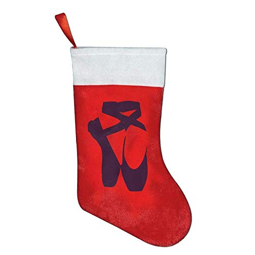 Jxrodekz Ballet Flats Design Ballerina Dancer Christmas Stocking Festival Party Ornaments Bags