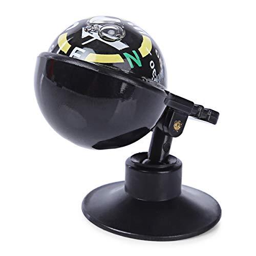 SQR CAR Einstellbare Auto Fahrzeug Schwimmende Kugel Magnetischer Navigationskompass Schwarz Marine Nautische Werkzeuge Wanderrichtung Zeige Führungskugel
