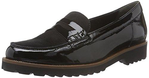 Gabor Shoes Fashion, Mocassini Donna, Nero (Schwarz Ra.Cuoio), 44 EU