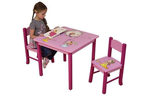 Butterfly-tisch-stuhl-set (Liberty House Toys Princess Tisch und zwei Stuhl Set, Holz, mehrfarbig)