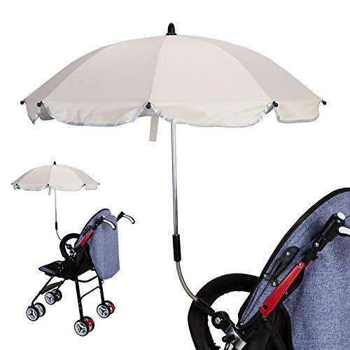 Aolvo Universal-Kinderwagen-Regenschirm, strapazierfähig, zum Anklipsen, winddicht, UV-Regenschutz,...