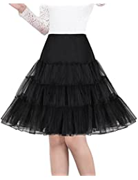 "Shimaly Women's 50s Vintage Petticoat 26"" Crinoline Rockabilly Tutu Skirt Slip"