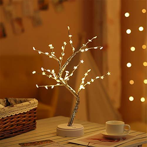 HMLIGHT 60 LED USB-Star/Schnee/Blumen Baum-Nachtlicht Kupferdraht Tischlampe für Partyraum Ferien Fee Dekoration Licht,Warmwhitestar