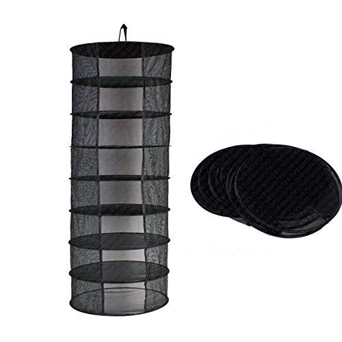 Mesh Large Hanging Drying Net Trocknungsnetz zum Aufhängen Wasser Kultur Tent Herb Bud Plant Trocknen Rack Net by Paladin NLH (Schwarz) ()