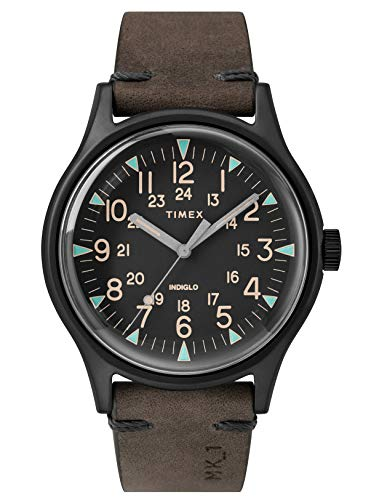 Timex Herren Analog Quarz Uhr mit Leder Armband TW2R96900
