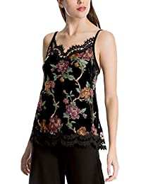 713b9ae6d6f0 MaxStudio London Women s Floral-Print Lace-Trim Camisole