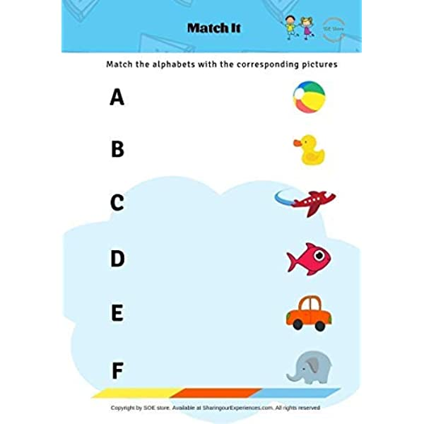 Buy SOE Store Kids Preschool First Book Capital Letters ABC, 38 Pages  Alphabets Activities Nursery Workbook Online At Low Prices In India -  Amazon.in