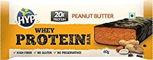 Hyp Whey Protein Bar (Box Of 6 Bars*60Gm) - Peanut Butter & Chocolate