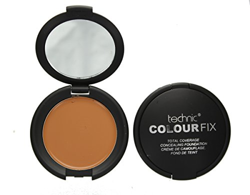 Technic Colour Fix Total Coverage Cream Concealing Foundation Compact 4.5g-Honey