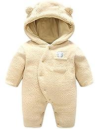 4a4c47c17 Jianzheng bebé recién Nacido Traje de Neopreno con Capucha Mameluco algodón  Espesa Mono Prendas de Vestir Exteriores Mono Lindo Infantil…