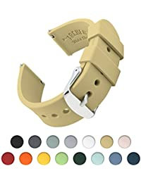 Archer Watch Straps | Repuesto de Correa Reloj de Silicona para Hombre y Mujer, Caucho Fácil de Abrochar para Relojes y Smartwatch | Arena, 20mm