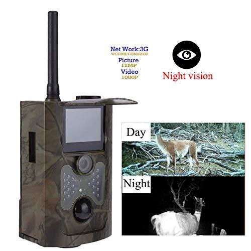 DHHZRKJ Off-Road-Kamera Jagdkamera 3G MMS im Freien wasserdichte Wildtier Nacht 1080P HD Tracking-Kamera für die Erkennung von Wildtieren im Freien, Sicherheit zu Hause