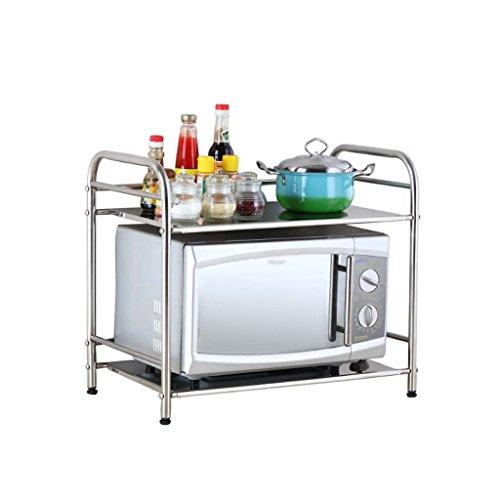 CAOYU Étagères de cuisine en acier inoxydable, étagères de rangement pour micro-ondes, étagères pour le four, étagères de rangement au sol. - tablette de salle de bain (taille : 50cm)