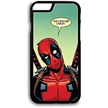 DC Marvel superhéroe de cómic deadpool teléfono móvil funda para iPhone 6& 6S (4,7pulgadas)–en negro
