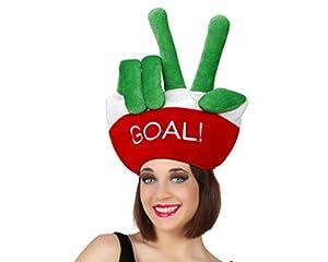 Atosa-24509 Atosa-24509-Gorro Victoria Dedos Italia Goal-Mundial De Fútbol Y Deportes, Color Verde y Rojo (24509)