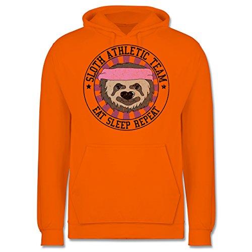 Statement Shirts - Sloth Athletic Team Faultier - Männer Premium Kapuzenpullover / Hoodie Orange