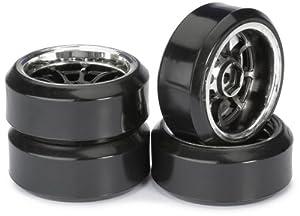 Absima - Wheel Set Drift LP  9 Spoke/Profile C black/chrome 1:10 (4 pcs) (2510045)